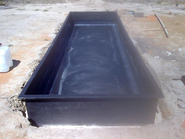 Rectangular preformed pond bing images for Blue koi pond liner